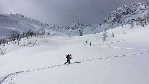 At Boulder Hut, every ski turn comes after a lot of (uphill) effort