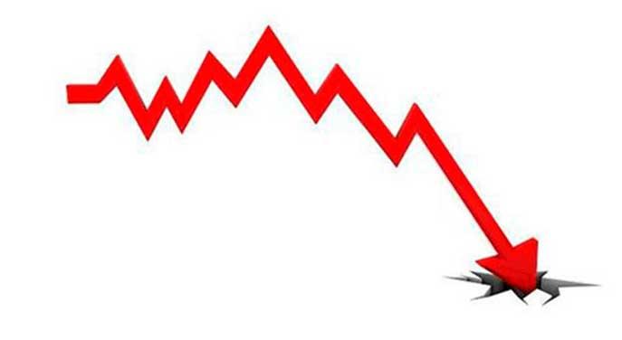 Sales decline arrow