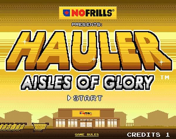 Hauler: Aisles of Glory Opening Screen