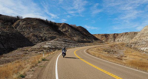Get a little badass on two wheels in Alberta's Badlands