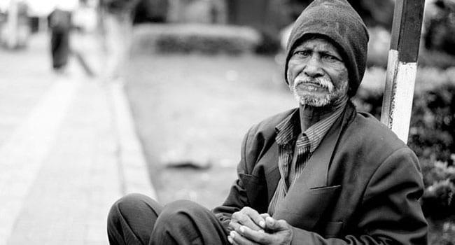 Homeless living on the street
