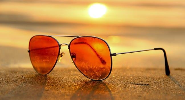 sunglasses sunset summer