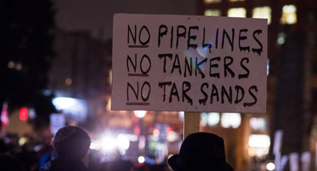 pipeline oil and gas protest