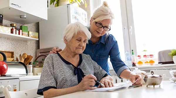 caregiving elderly senior