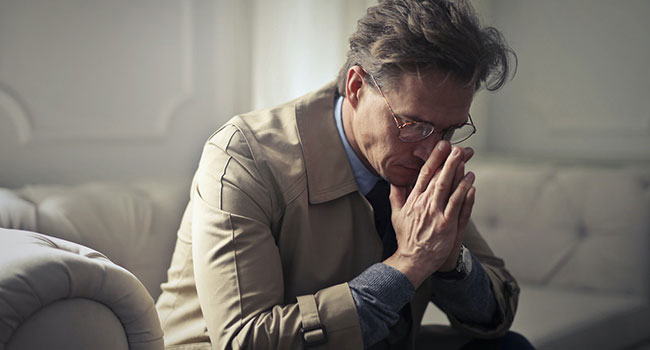 sad depressed business