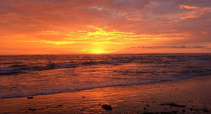sunset shore nature
