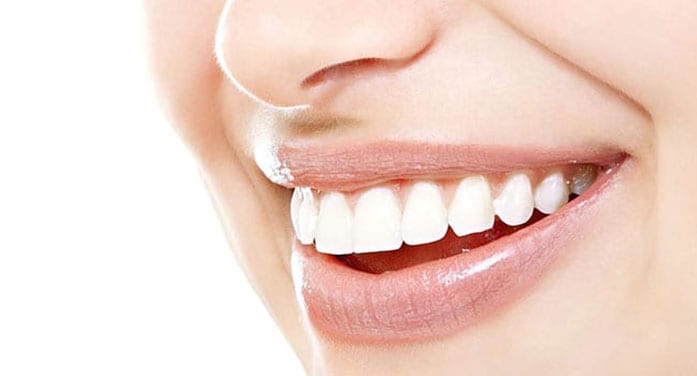 White teeth smile dental