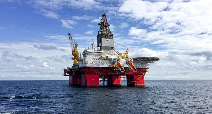 oil rig ocean sea natural gas