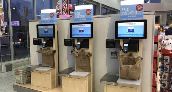 Self-checkout counter
