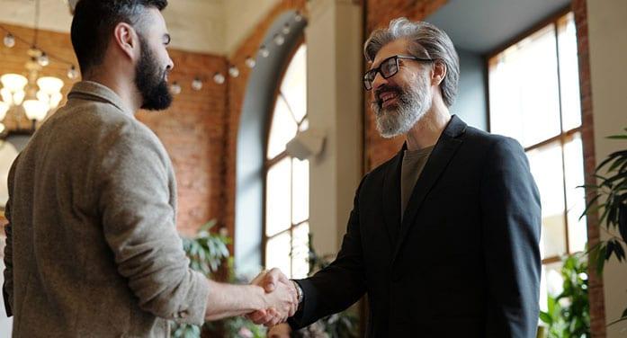 handshake meeting business