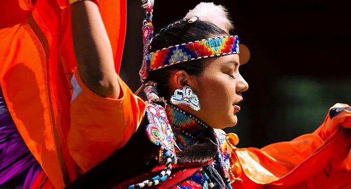 Alicia Cardinal powwow dancing Cree-Métis heritage culture