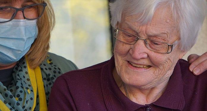 caregiver nurse elderly old woman senior ageism, discrimination