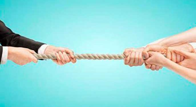Rope pulling counteroffers