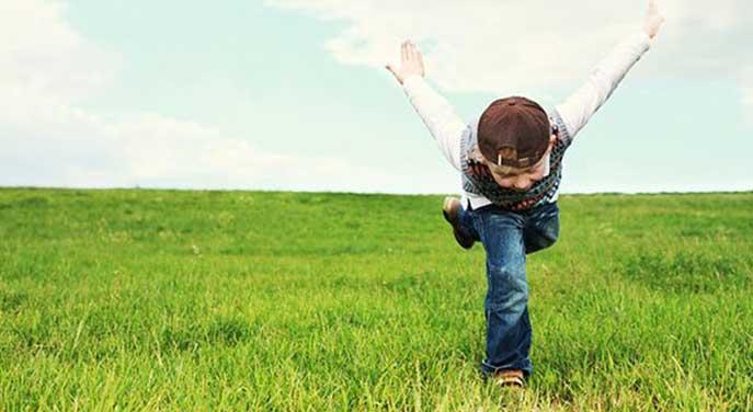 Exuberant child
