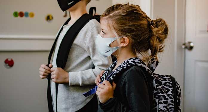 gild kid child school mask pandemic education