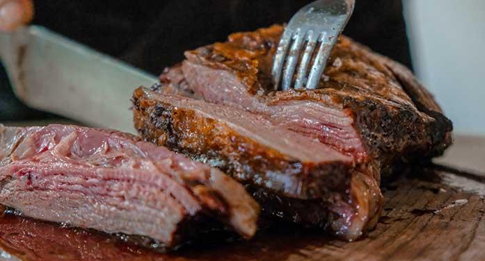 meat steak beef fork eat food