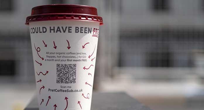 qr code coffee drink food