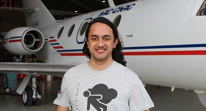 Kirtan Dhunnoo National Research Council of Canada Falcon 20 aircraft leadership, scholarships, space