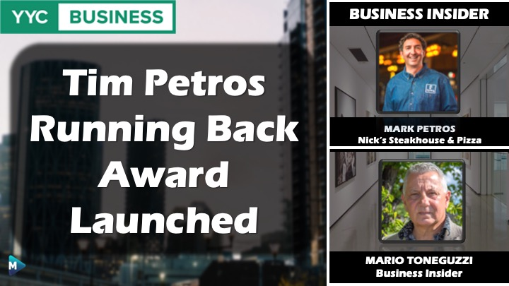 VIDEO: Tim Petros Running Back Award Launched