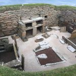 A typical Skara Brae Neolithic home, circa 5000 BP