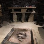 Skara Brae altar and fire pit in a Neolithic home